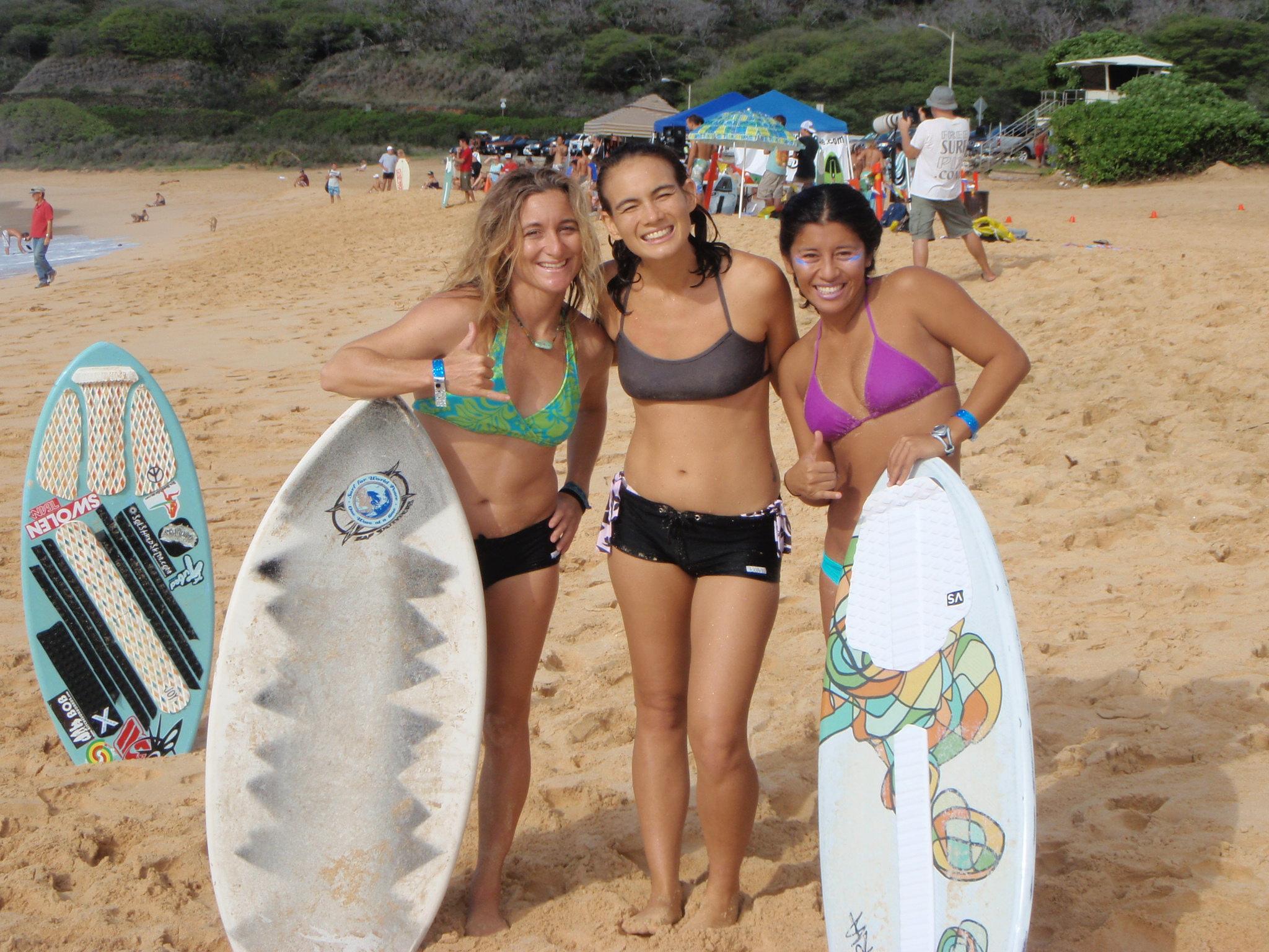 hawaii amateur skimboard league - maui surfer girls