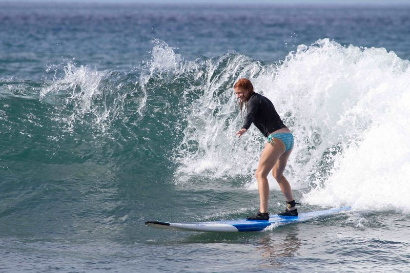 Maui Surf Lessons  | Brianna's 1st ride!