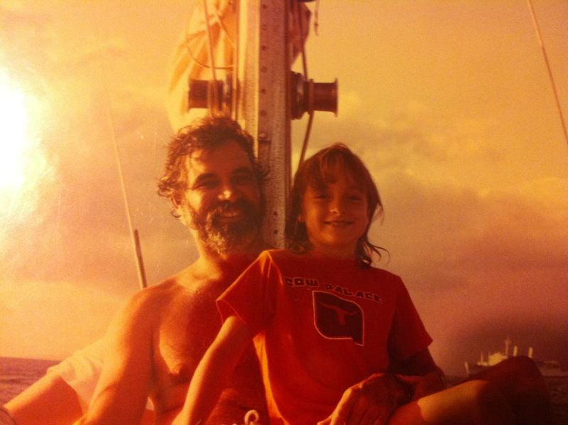 Dad and i sailing