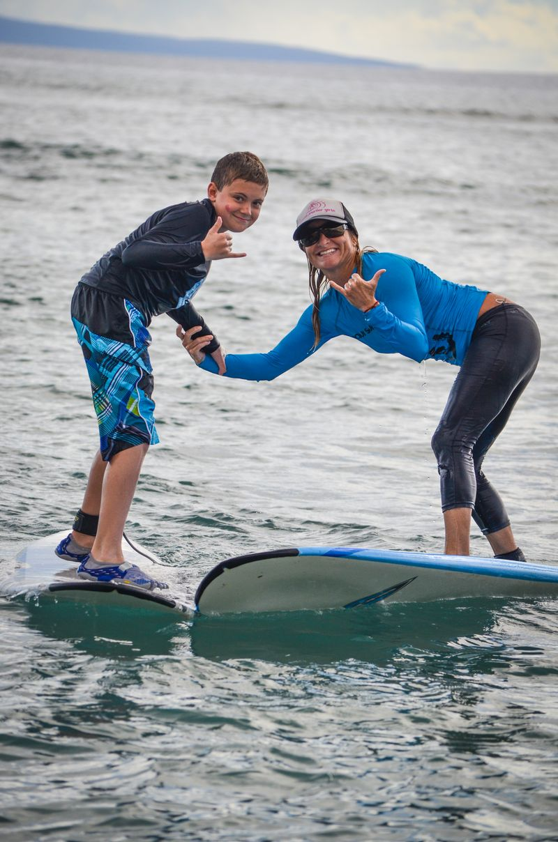 Party wave shaka with kyle