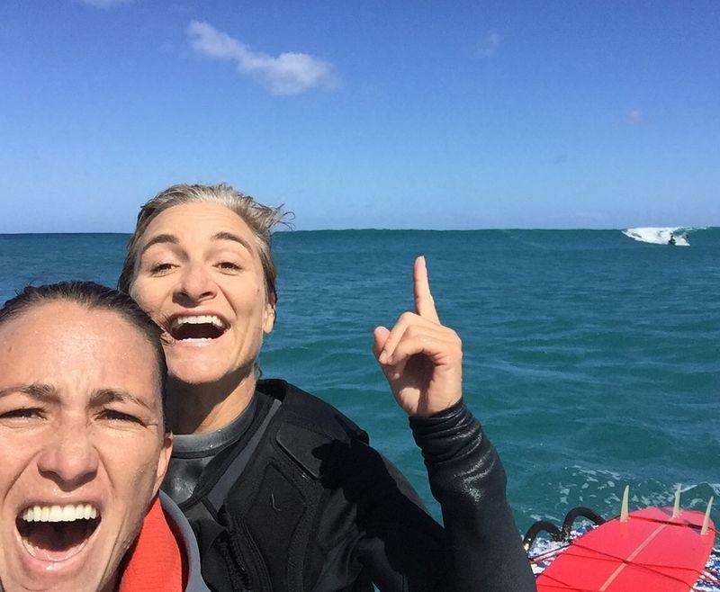 Dustin Tester & Andrea Moller Tow Surfs